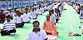 The Minister of State for Culture (IC) and Environment, Forest & Climate Change, Dr. Mahesh Sharma performing Yoga, on the occasion of the 4th International Day of Yoga 2018, in Kolkata on June 21, 2018.JPG