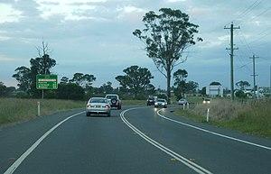 A9 (Sydney) - The Northern Road (northbound) at Luddenham