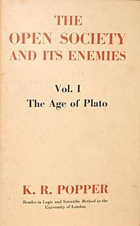 <i>The Open Society and Its Enemies</i> 1945 book by Karl Popper