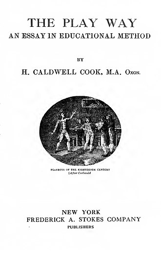 Henry Caldwell Cook - The Play Way 1919 edition title page