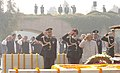 The President Dr. A.P.J. Abdul Kalam, the Vice President Shri Bhairon Singh Shekhawat and the Prime Minister Dr. Manmohan Singh paying tributes at the Samadhi of Mahatma Gandhi on the occasion of Martyr's Day at Rajghat in Delhi.jpg