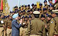 The Prime Minister, Dr. Manmohan Singh greeting the CRPF and BSF soldiers at the Sainik Sammelan, in Srinagar, Jammu & Kashmir on October 29, 2009.jpg