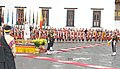 The Prime Minister, Shri Narendra Modi receiving the Guard of Honour, at the ceremonial reception, at Tashichhodzong Palace, in Thimphu, Bhutan on June 15, 2014.jpg