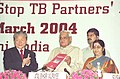 The Prime Minister Shri Atal Bihari Vajpayee and the Minister for Health and Family Welfare Smt. Sushma Swaraj at the inauguration of the ' Second Stop T.B. Partners' forum', in New Delhi on March 24, 2004.jpg
