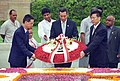 The Prime Minister of Singapore, Mr. Lee Hsein Loong laying wreath on the Samadhi of Mahatma Gandhi at Rajghat in Delhi on June 29, 2005.jpg