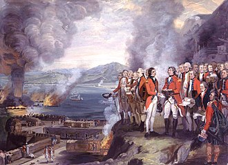 George Koehler - leftKoehler is amongst the principal officers recorded in the commemorative painting of the Siege of Gibraltar by George Carter.