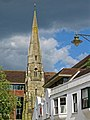 The Spire remains of St Mark's Church at Horsham, West Sussex, England.jpg