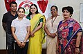 The Sportsperson, Contestant for Rio Olympics and BBBP Ambassador for Gomati District, Tripura, Ms. Dipa Karmakar meeting the Union Minister for Women and Child Development, Smt. Maneka Sanjay Gandhi, in New Delhi.jpg