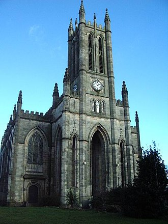 Commissioners' church - All Saints' Church, Stand, by Charles Barry in a Gothic Revival style with Early English elements