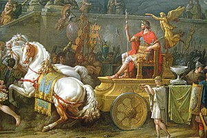 Lucius Aemilius Paullus Macedonicus - The Triumph of Aemilius Paulus (detail) by Carle Vernet, 1789.