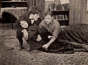The Undercurrent (1919 film) - Betty Blythe, Frederick Buckley and Guy Empey in a still from The Undercurrent