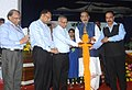 "The Union Minister for Agriculture and Farmers Welfare, Shri Radha Mohan Singh lighting the lamp at the ""Sankalp Se Siddhi"" programme, at Banaras Hindu University, in Varanasi, Uttar Pradesh on August 27, 2017.jpg"