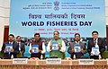 The Union Minister for Agriculture and Farmers Welfare, Shri Radha Mohan Singh releasing the publication, on the occasion of the World Fisheries Day 2016, in New Delhi (1).jpg