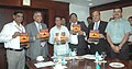 """The Union Minister for Civil Aviation, Shri Ajit Singh launches a monthly magazine of Airports Authority of India entitled """"Airports India"""", in New Delhi on October 03, 2012.jpg"""