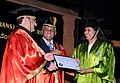 The Union Minister for Health & Family Welfare, Shri J.P. Nadda presenting the graduate certificate to a student at the 20th Convocation Ceremony of NIMHANS, at Bengaluru on February 13, 2016.jpg