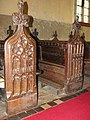 The church of All Saints in Shouldham - C15 bench ends - geograph.org.uk - 1738548.jpg