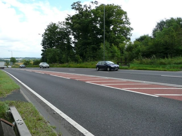 The footpath crosses the Stocksbridge Bypass - geograph.org.uk - 909201