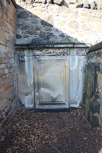 David Laing (antiquary) - The grave of David Laing, New Calton Burial Ground, Edinburgh