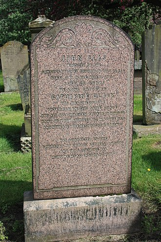 John Glas - The grave of Rev John Glas, The Howff Cemetery, Dundee