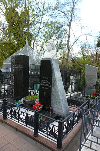 Vladimir Filatov - The tombstone of Nadezhda Puchkovskaya. The Second Christian Cemetery in Odessa.