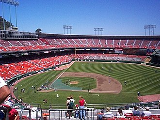 Candlestick Park - Image: The view from our section