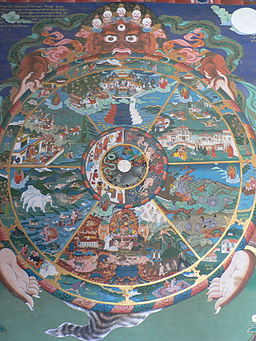 The wheel of life, Trongsa dzong