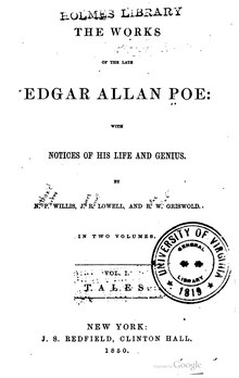 The works of the late Edgar Allan Poe volumes 1-2.djvu