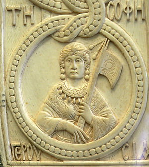 Byzantine Senate - Personification of the Senate. From the consular diptych of Theodore Philoxenus, 525 AD