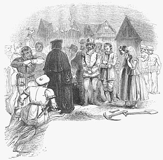 """Stratford Martyrs - """"The Thirteen Martyrs of Stratford-le-Bow"""" from a 19th-century engraving"""