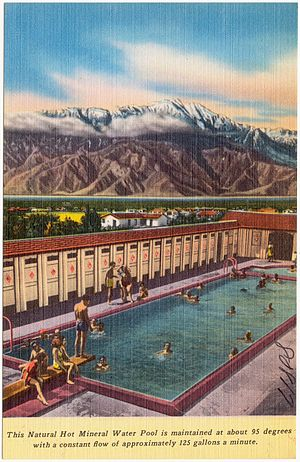 Desert Hot Springs, California - 1950s postcard promoting tourism