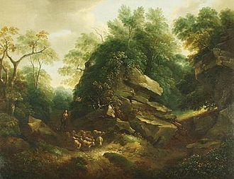 Thomas Barker (painter) - Hampton Rocks, Morning, now at the Victoria Art Gallery, Bath.