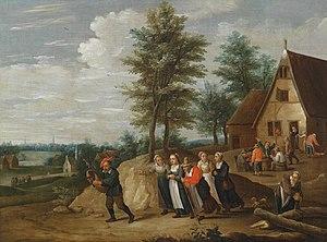 Thomas van Apshoven - Landscape with figures
