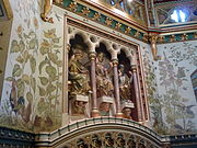 Three Fates chimneypiece, drawing room of Castell Coch