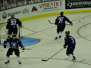 Daniel Tetrault - Image: Thundervs Oilers WP1