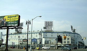 Detroit Tigers - Tiger Stadium, home of the Detroit Tigers from 1912 to 1999 at the corner of Michigan and Trumbull in the Corktown district of Detroit.