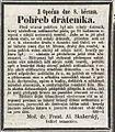 Tinker funeral ad 1864 Skuhersky.jpg