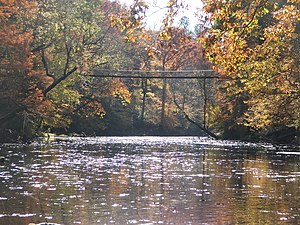 Tishomingo County, Mississippi - Bridge over Bear Creek in Tishomingo State Park.