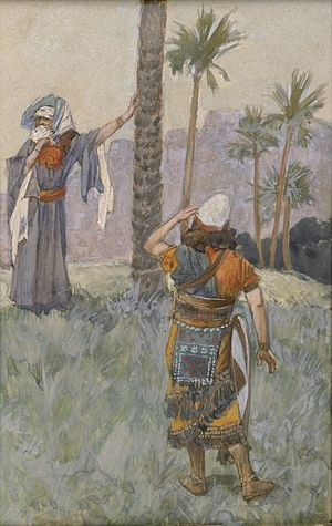 Deborah - Deborah Beneath the Palm Tree (c. 1896-1902) by James Tissot