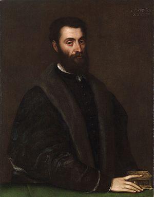 Sperone Speroni - Portrait of Sperone Speroni by Titian, 1544.