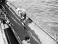 To the Rescue on Board HMS Manchester. July 1941, on Board the Cruiser After She Had Been Torpedoed While on Convoy Duty in the Mediterranean. A4893.jpg