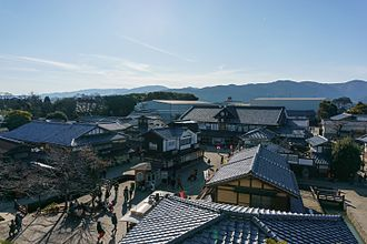 Toei Kyoto Studio Park - A view from above the park's entrance
