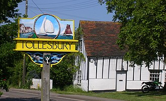 Tollesbury - Image: Tollesbury Village Sign Ships