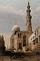 Tombs of the caliphs, with minaret, Cairo, Egypt. Coloured l Wellcome V0049384.jpg