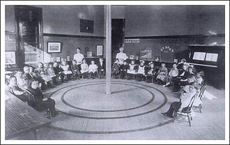 Tipperary Hill - Tompkins Primary School, first floor main hallway, 1910