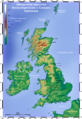 Topographic Map of the UK - Bulgarian.png