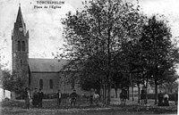 Torchefelon, place de l'église, 1912, p251 de L'Isère les 533 communes - cliché .jpg