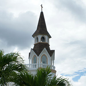 English: Torre del Templo Espíritu Santo