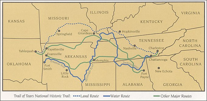 Map of National Historic trails Trail of tears map NPS.jpg