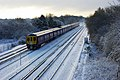 Train in the snow, Tinsley Green - geograph.org.uk - 1623957.jpg