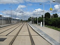 Tram stop at The Gyle